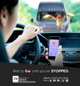 Pokemon Go Distracted Driving