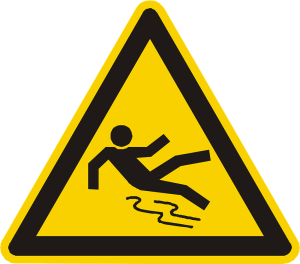 Wet Floor Slip-and-Fall Sign