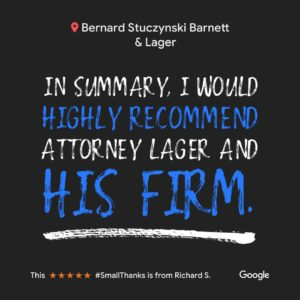 Review of Matthew J. Lager: In summary, I would highly recommend Attorney Lager and His Firm